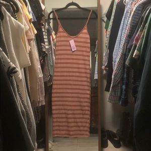 Target Wild Fable fitted midi stripped dress
